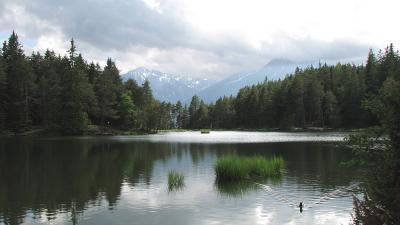 Lacul Moserer See, Moesern, Tirol, Austria