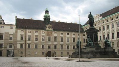 Curtea interioara Palatul Hofburg, Viena, Austria